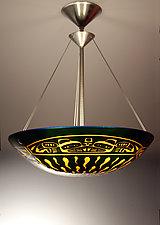 Ts'ang Pendant Lamp by George Scott (Art Glass Pendant Lamp)