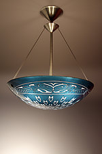 Falcon Pendant Lamp by George Scott (Art Glass Pendant Lamp)