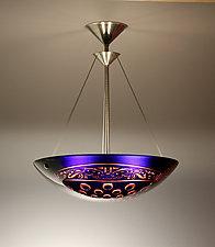 Sea Wolf Pendant Lamp by George Scott (Art Glass Pendant Lamp)
