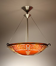Pima Pendant Lamp by George Scott (Art Glass Pendant Lamp)