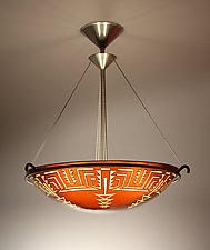 Pima Pendant Lamp by George Scott (Art Glass Pendant Lamp)