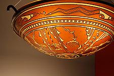 Harvest Pendant Lamp by George Scott (Art Glass Pendant Lamp)