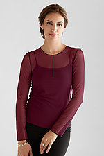 Essential Mesh Layering Tee by Cynthia Ashby  (Mesh Top)
