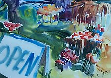 Farm Stand by Alix Travis (Watercolor Painting)