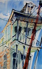 Old House New Orleans by Alix Travis (Watercolor Painting)