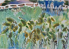 Goldenrod, October by Alix Travis (Watercolor Painting)