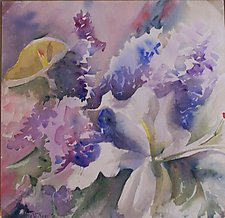 Gift of Flowers by Alix Travis (Watercolor Painting)