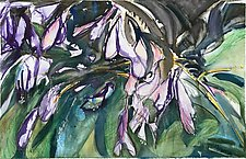 Purple Hosta Blossoms by Alix Travis (Watercolor Painting)