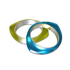 Oh! Bangle by Velina Glass (Silver & Resin Bracelet)
