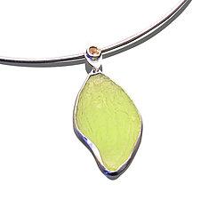 MyPod Necklace by Velina Glass (Silver & Resin Necklace)