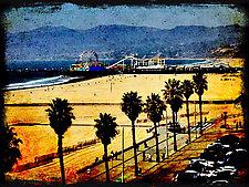 Santa Monica Pier by Lori Pond (Color Photograph)