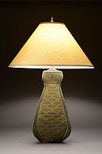 Tall Fan Lamp by Jim and Shirl Parmentier (Ceramic Table Lamp)