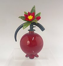 Wonderful Pomegranate by Garrett Keisling (Art Glass Perfume Bottle)