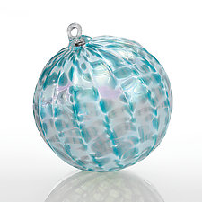Blue Agave by Brian Lockwood (Art Glass Ornament)