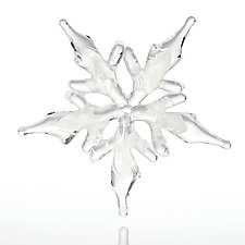 Crystalline Snowflake by Christina Mayr and Jeff Ferrier (Art Glass Ornament)