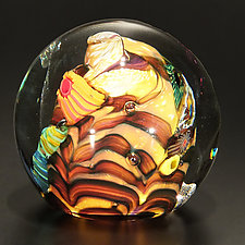 Undersea Morocco by The Glass Forge (Art Glass Paperweight)
