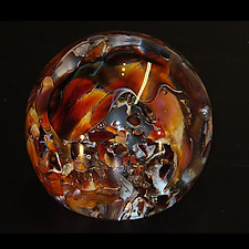 ET Ruby Shattered Weight by The Glass Forge (Art Glass Paperweight)
