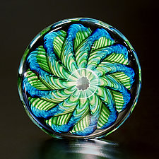 Triple Threat Paperweight by The Glass Forge (Art Glass Paperweight)
