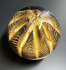 Tiger Urchin by The Glass Forge (Art Glass Paperweight)