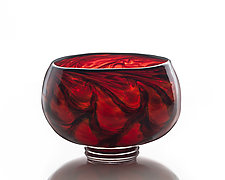 Cauldron Bowl by The Glass Forge (Art Glass Bowl)