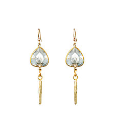 Daggers and Lucite Hearts Earrings by Natalie Frigo (Brass & Lucite Earrings)