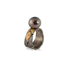 Bedrock Pearl Ring by Jenny Reeves (Gold, Silver & Pearl Ring)
