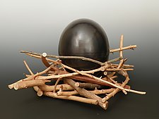 Egg by Mary Ann Owen and Malcolm  Owen (Metal Vessel)