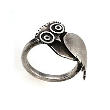 Owl Ring by Susan Elnora (Silver Ring)