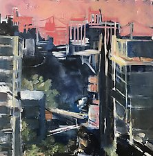 New York Through Rose-Colored Glasses by Suzanne DeCuir (Oil Painting)