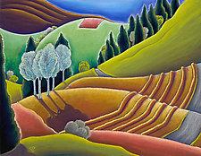 Up the Hill by Jane Aukshunas (Giclée Print)