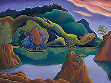 Dreamy Canyon by Jane Aukshunas (Giclee Print)