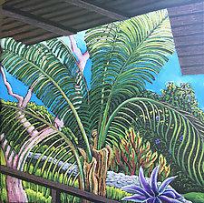 Veranda View, Mexico by Jane Aukshunas (Pastel Painting)