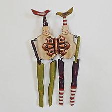 Love Birds by Elizabeth Frank (Wood Wall Sculpture)