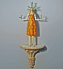Thorn Woman by Elizabeth Frank (Wood Wall Sculpture)