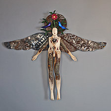 Earth Angel by Elizabeth Frank (Wood Wall Sculpture)
