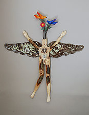 Tree of Life Angel by Elizabeth Frank (Wood Wall Sculpture)