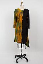Angle Long Tunic with Pocket by Michael Kane  (Shibori Dress)