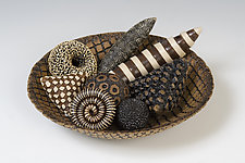Bowl and Rattles by Kelly Jean Ohl (Ceramic Sculpture)