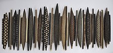 Large Domestic Markings by Kelly Jean Ohl (Ceramic Wall Sculpture)