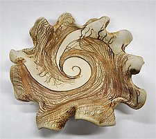 Hand Carved Sculptural Ceramic Bowl by Kelly Jean Ohl (Ceramic Bowl)