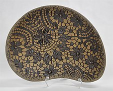 Floral Carved Bowl by Kelly Jean Ohl (Ceramic Bowl)