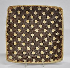 Polka Dot Square Platter by Kelly Jean Ohl (Ceramic Platter)