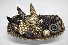 Rattle-Filled Bowl by Kelly Jean Ohl (Ceramic Sculpture)