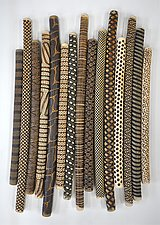 Jumbo Tribal Sticks by Kelly Jean Ohl (Ceramic Wall Sculpture)