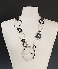 Avery Necklace by Kathleen Nowak Tucci (Steel & Rubber Necklace)