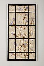 Purple Vines by Kristi Sloniger (Ceramic Wall Sculpture)
