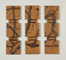 Western Triptych by Kristi Sloniger (Ceramic Wall Sculpture)