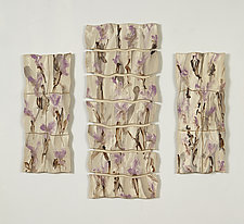 Purple and Gray Morning by Kristi Sloniger (Ceramic Wall Sculpture)