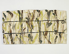 Bamboo Forest by Kristi Sloniger (Ceramic Wall Sculpture)
