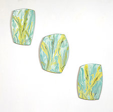 Spring Trio by Kristi Sloniger (Ceramic Wall Sculpture)